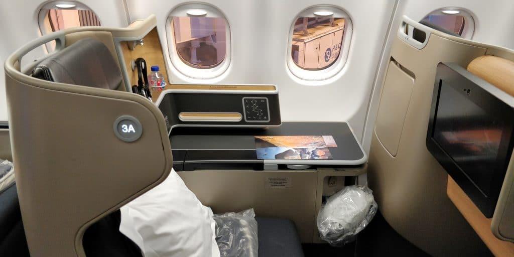 Qantas Business Class Airbus A330 Sitz 9