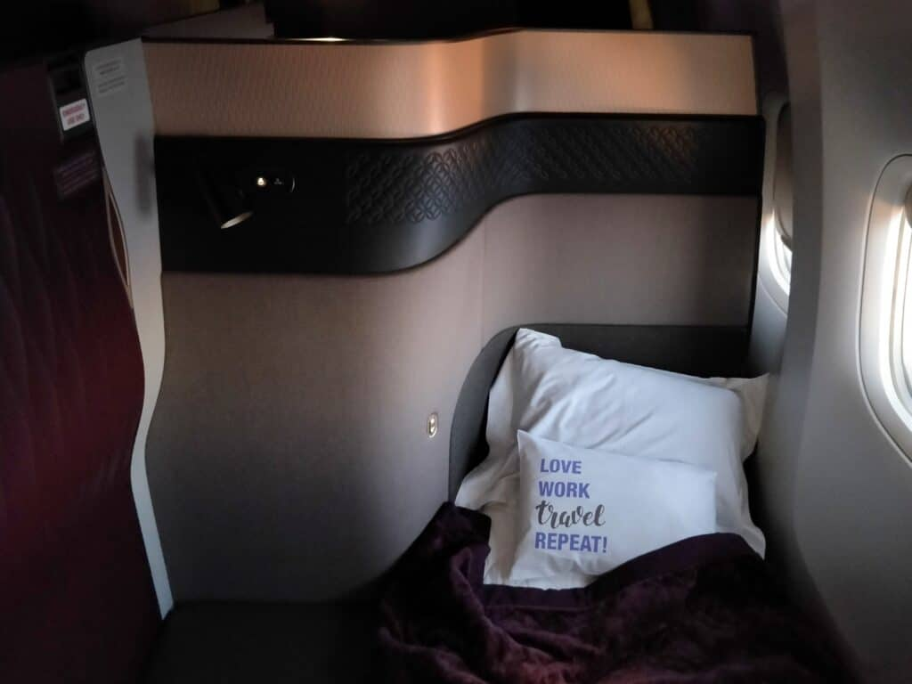 Qatar Airways QSuite Business Class Bett 3
