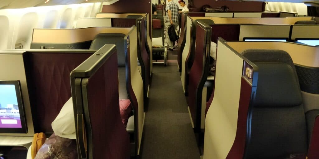 Qatar Airways QSuite Business Class Kabine