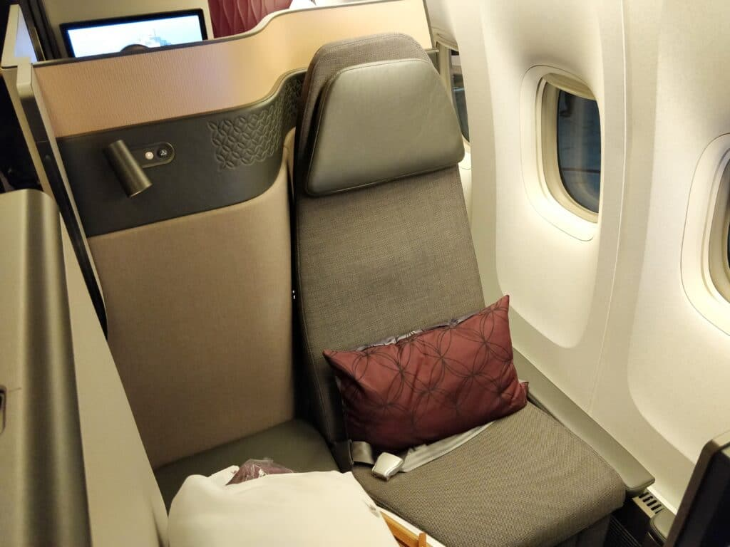 Qatar Airways QSuite Business Class Sitz 10