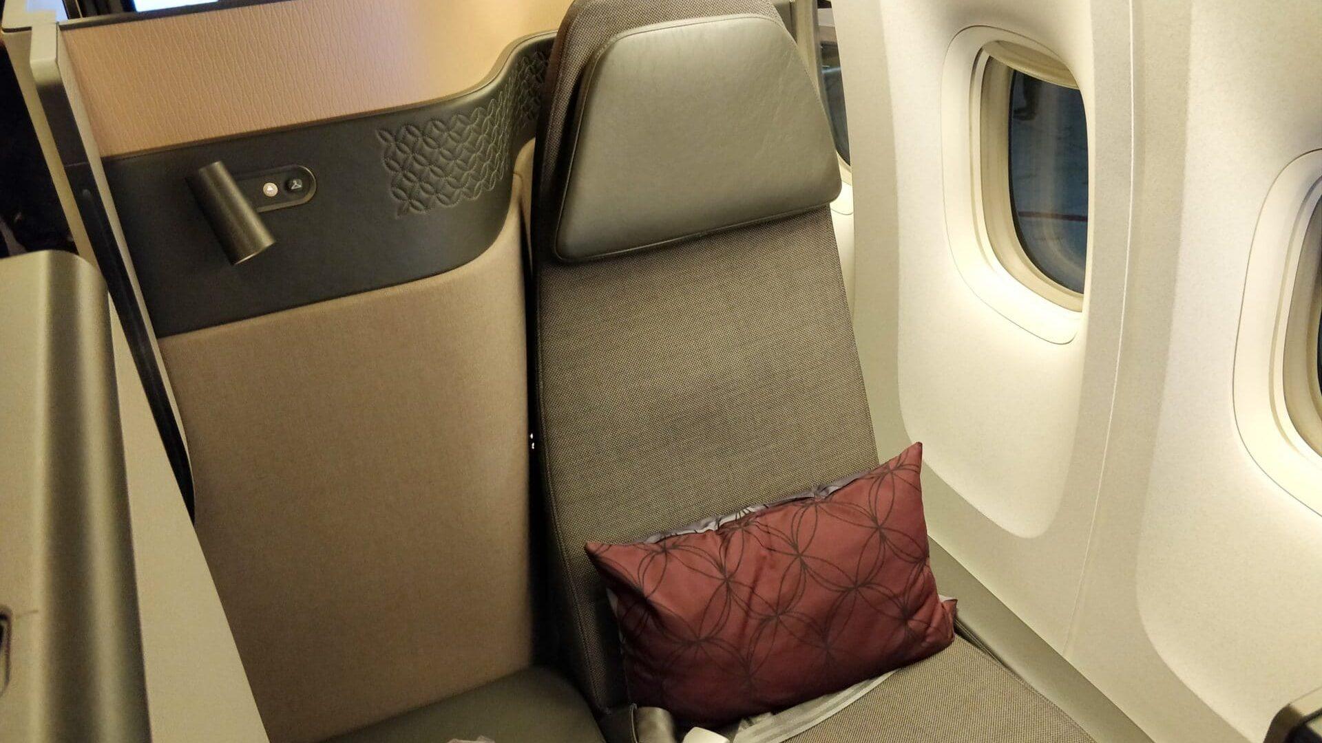 Qatar Airways QSuite Business Class Sitz 10