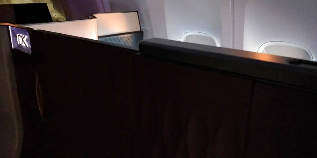 Qatar Airways QSuite Business Class Sitz 15