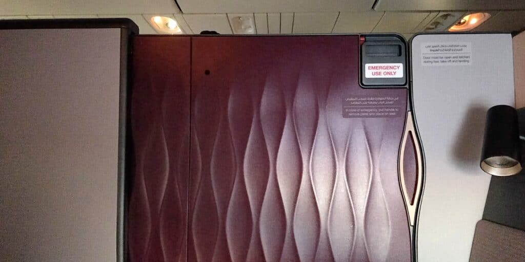 Qatar Airways QSuite Business Class Sitz 16