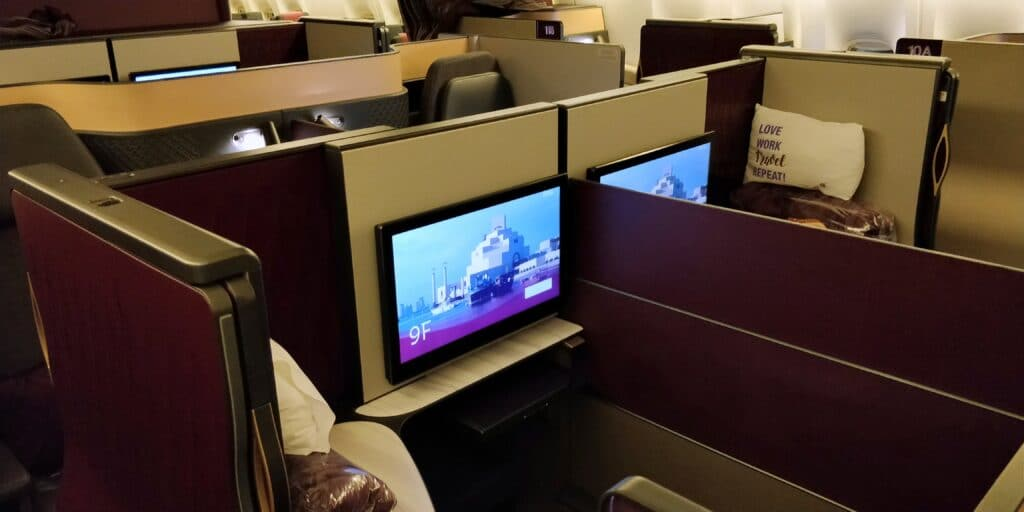 Qatar Airways QSuite Business Class Sitz 2