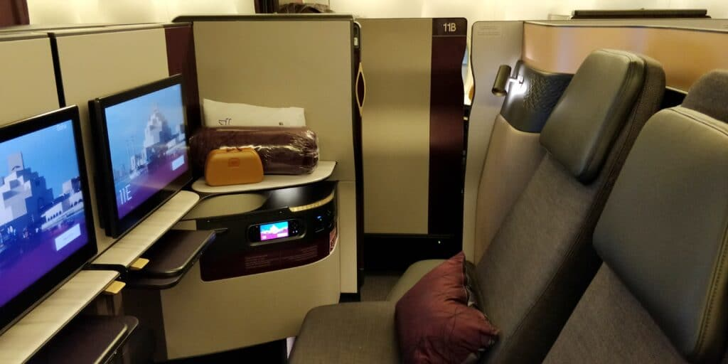 Qatar Airways QSuite Business Class Sitz 7