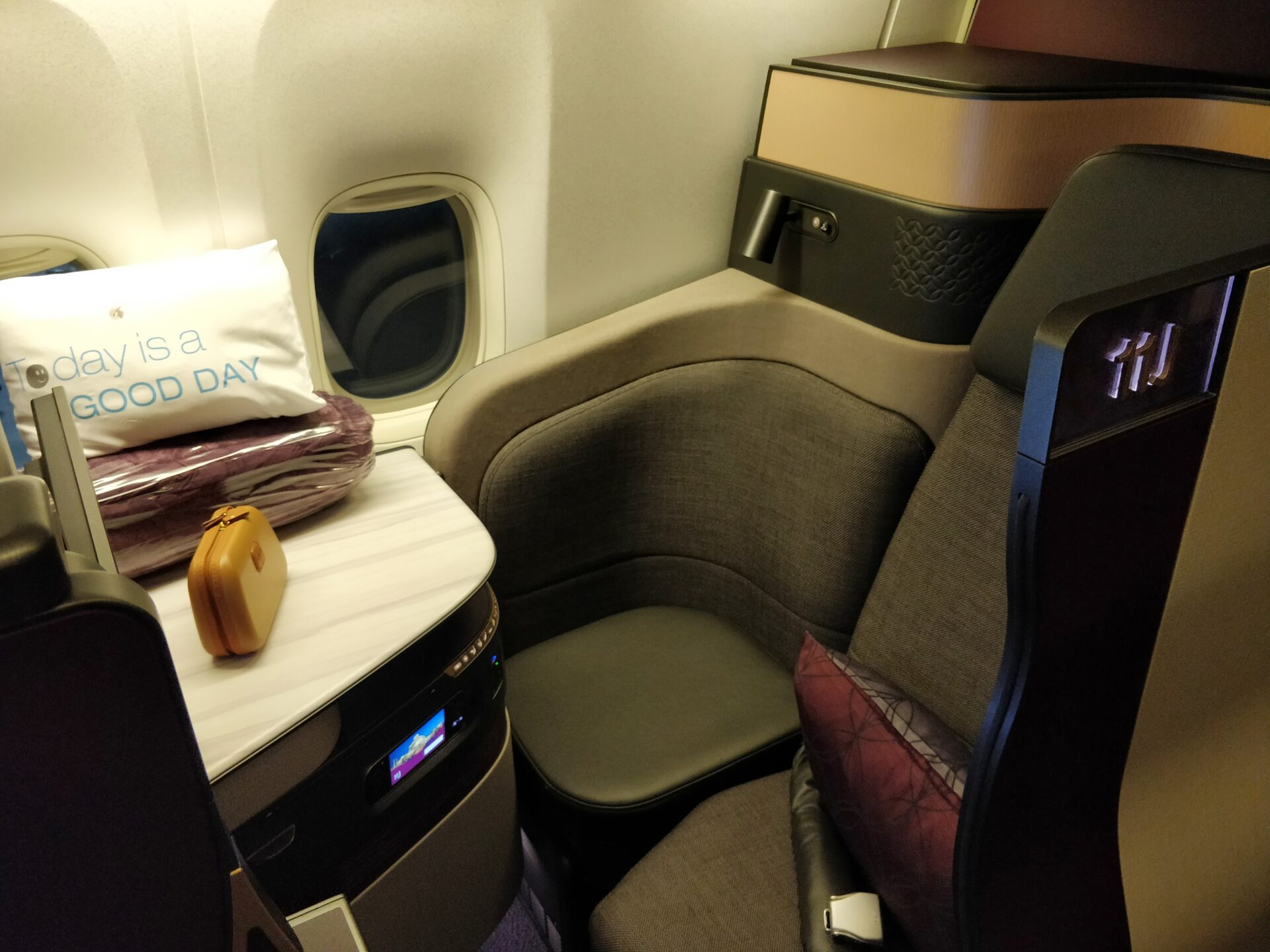 Qatar Airways QSuite Business Class Sitz 9