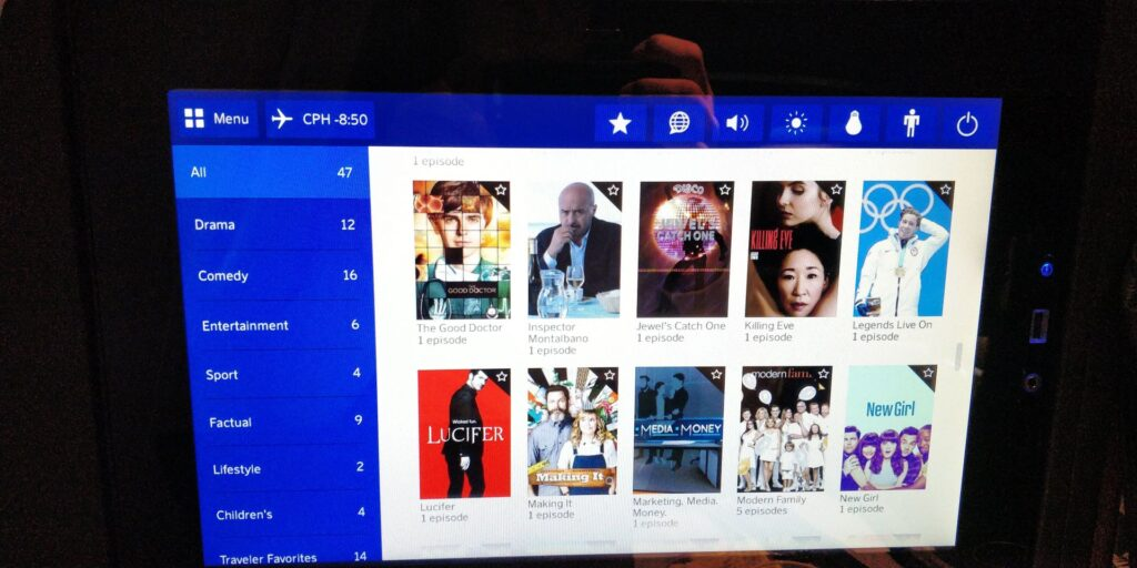 SAS Business Class Airbus A340 Entertainment 4
