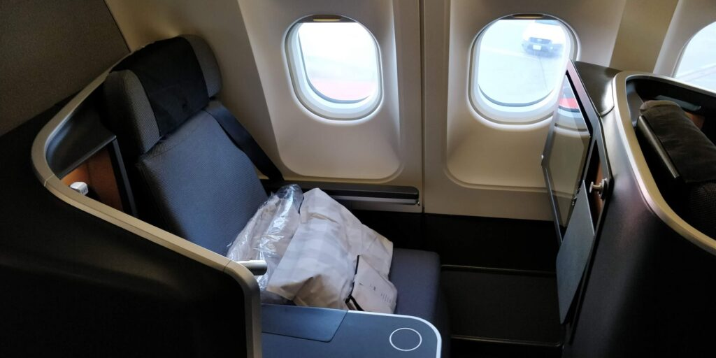 SAS Business Class Airbus A340 Sitz 2