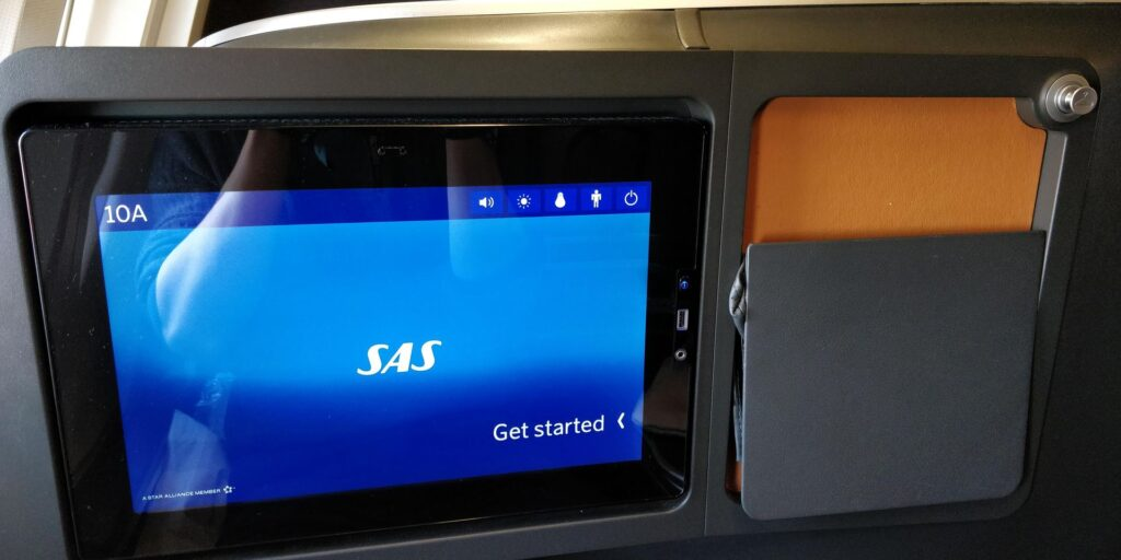 SAS Business Class Airbus A340 Sitz 3