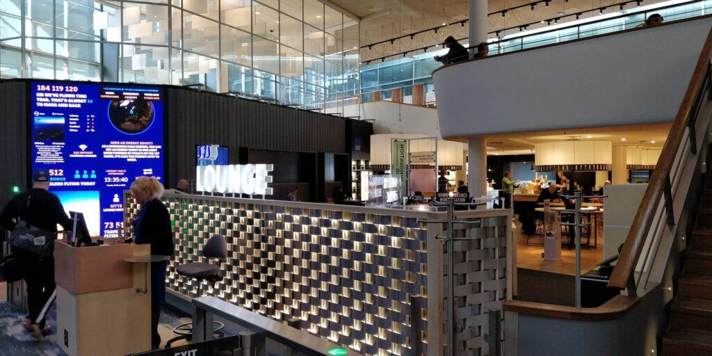 SAS Gold Lounge Kopenhagen Eingang 2