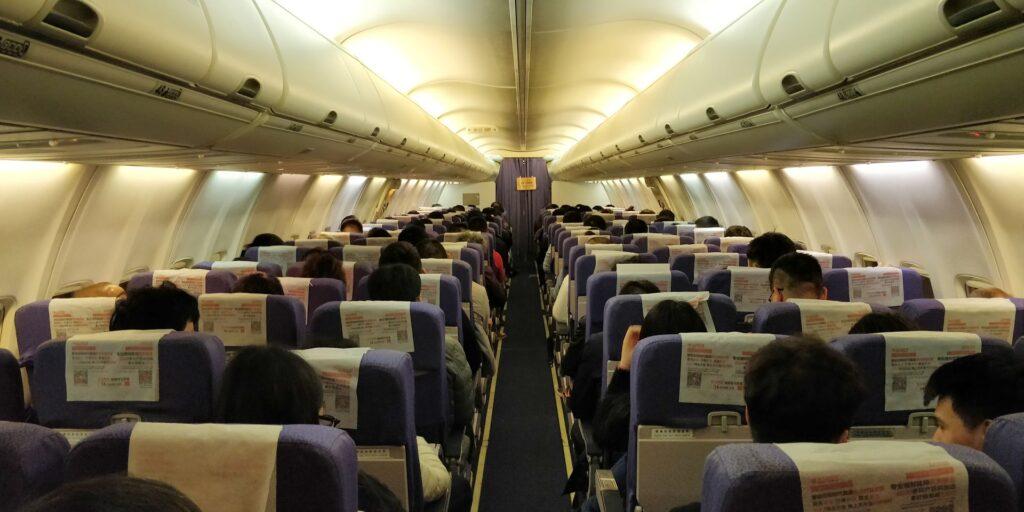 Shanghai Airlines Economy Class Kurzstrecke Kabine 2