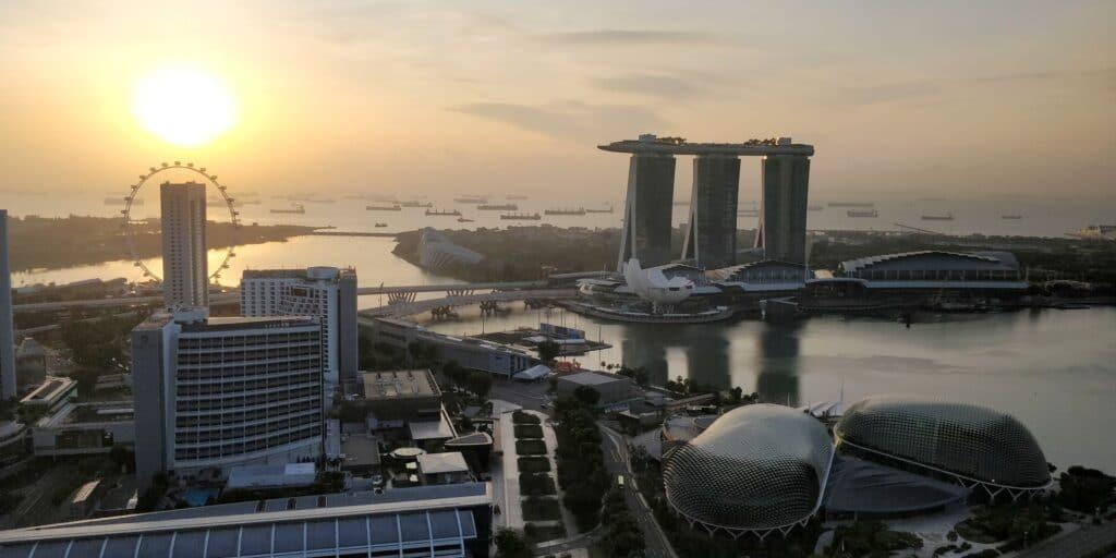 Swissotel The Stamford Singapur Ausblick 2