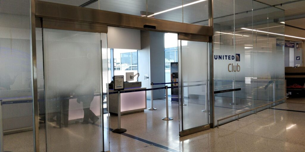 United Club Lounge Los Angeles Eingang 1