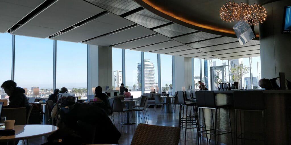 United Club Lounge Los Angeles Layout 2