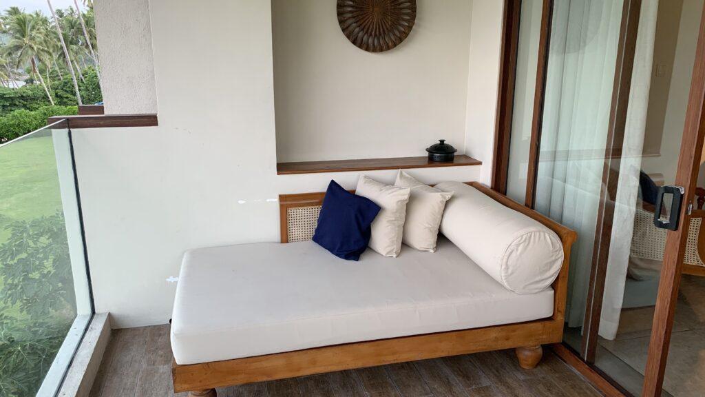 Anantara Peace Haven Tangalle Resort Ocean View Room Balkon 2