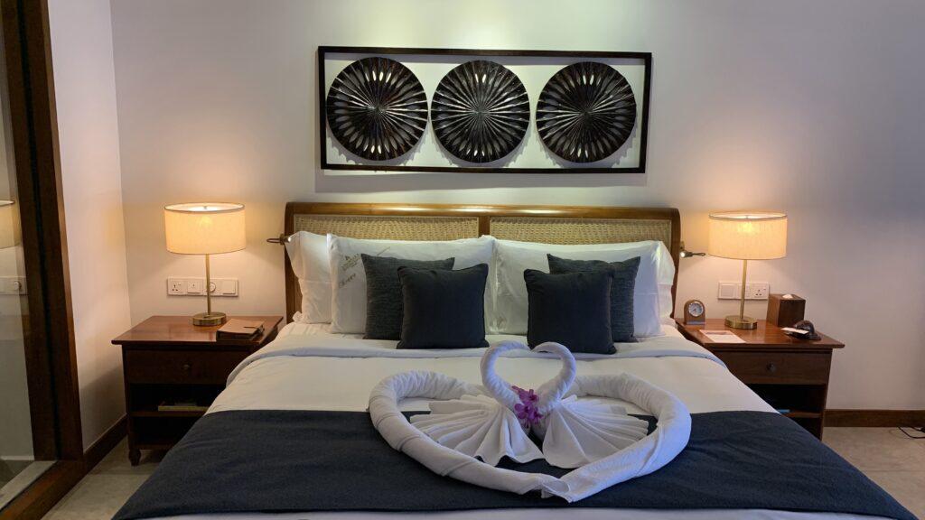 Anantara Peace Haven Tangalle Resort Ocean View Room Bett 2