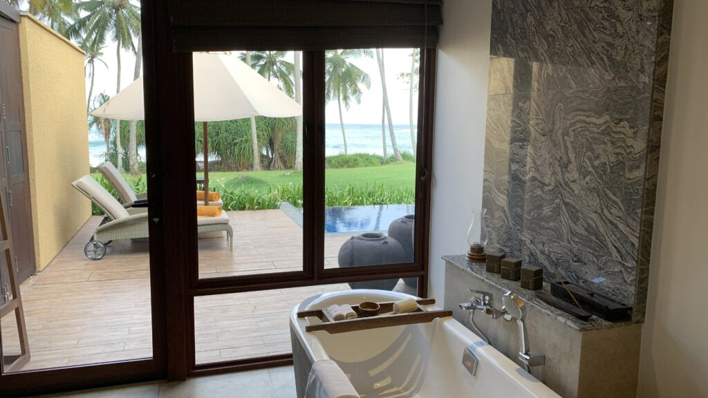 Anantara Peace Haven Tangalle Resort Villa Badezimmer