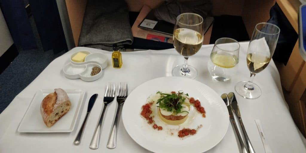 ANA First Class Dinner
