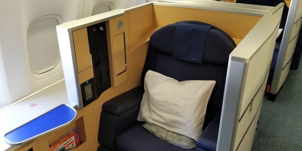 ANA First Class Sitz 5