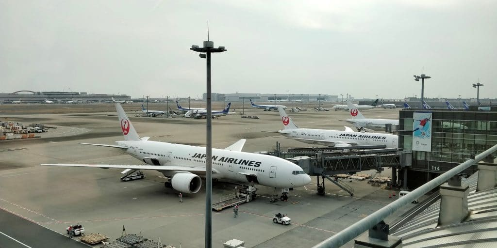 ANA Suite Lounge Tokio Haneda 114 Ausblick