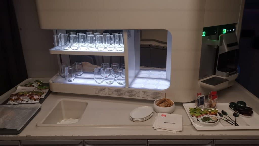 AeroMexico Business Class Boeing 787 9 Galley
