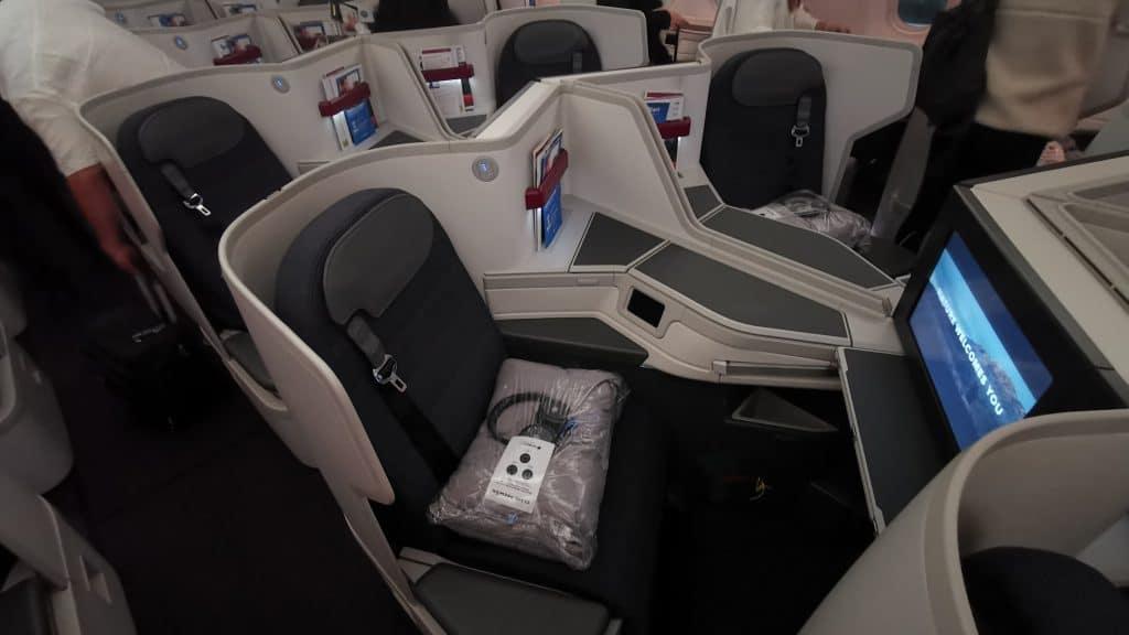 AeroMexico Business Class Sitz Mittelblock