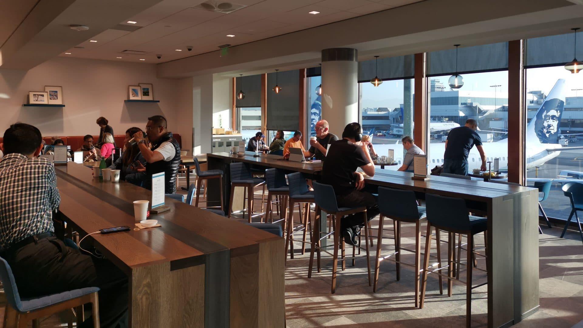 Alaska Airlines Lounge Los Angeles