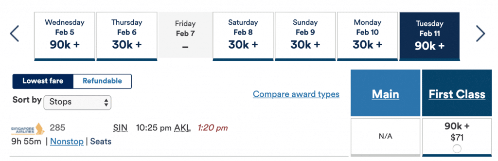 Alaska Mileage Plan Singapore Airlines