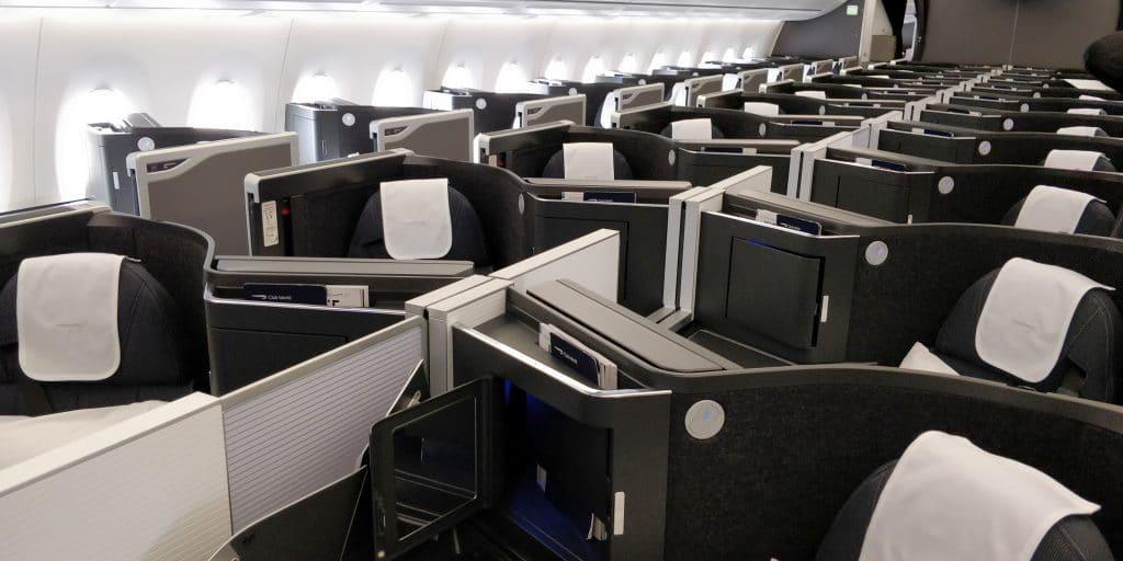 British Airways Business Class Airbus A350 Kabine