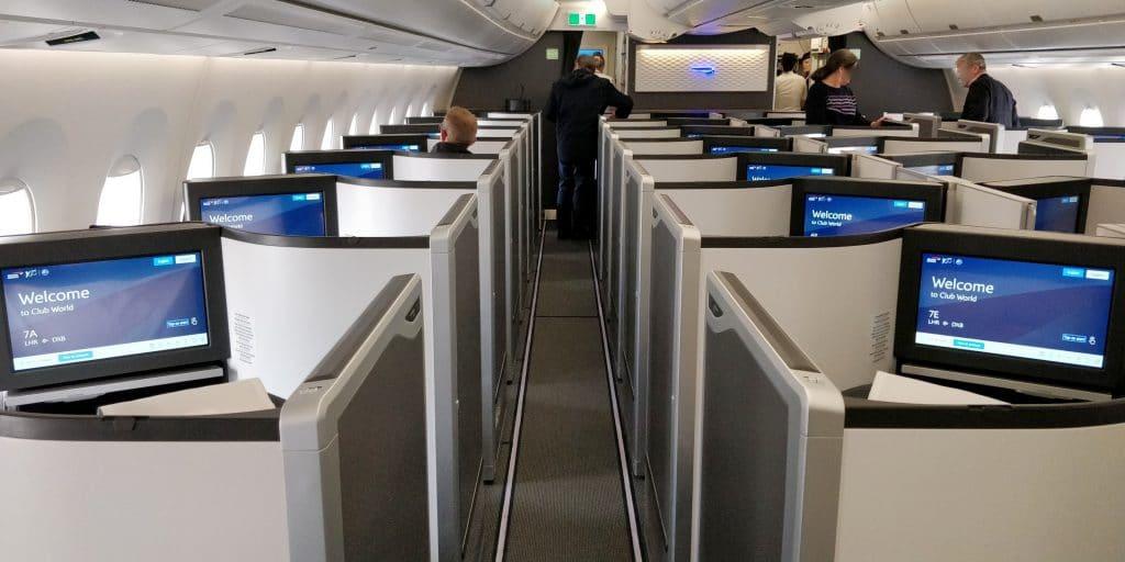 British Airways Business Class Airbus A350 Kabine 2