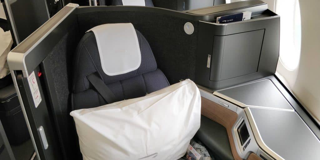 British Airways Business Class Airbus A350 Sitz