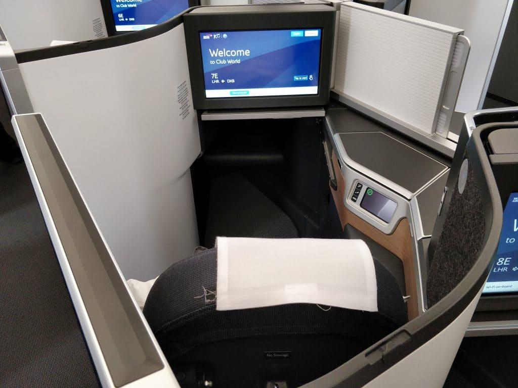 British Airways Business Class Airbus A350 Sitz 3