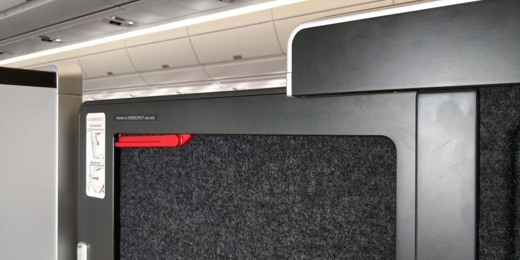 British Airways Business Class Airbus A350 Tür