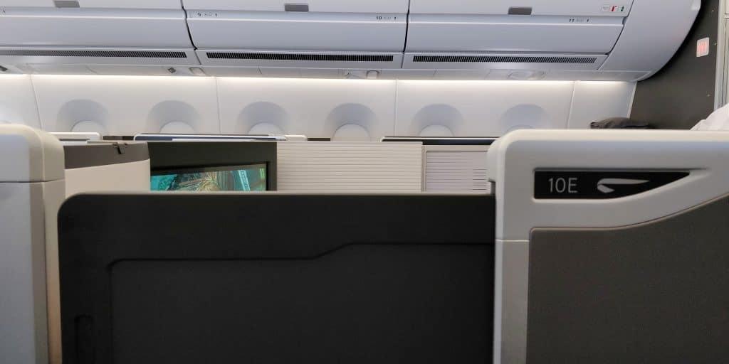 British Airways Business Class Airbus A350 Tür 2