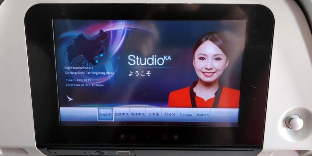 Cathay Dragon Economy Class Entertainment 2