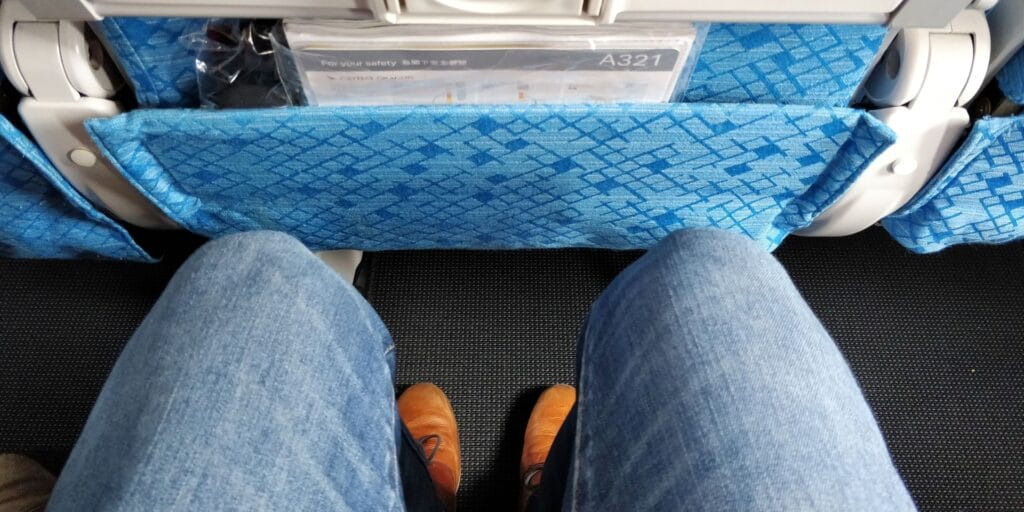 Cathay Dragon Economy Class Sitzabstand