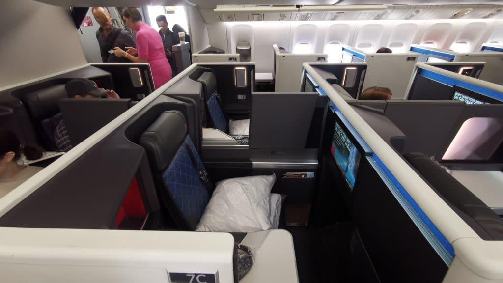 Delta One Suites Business Class Mittelblock