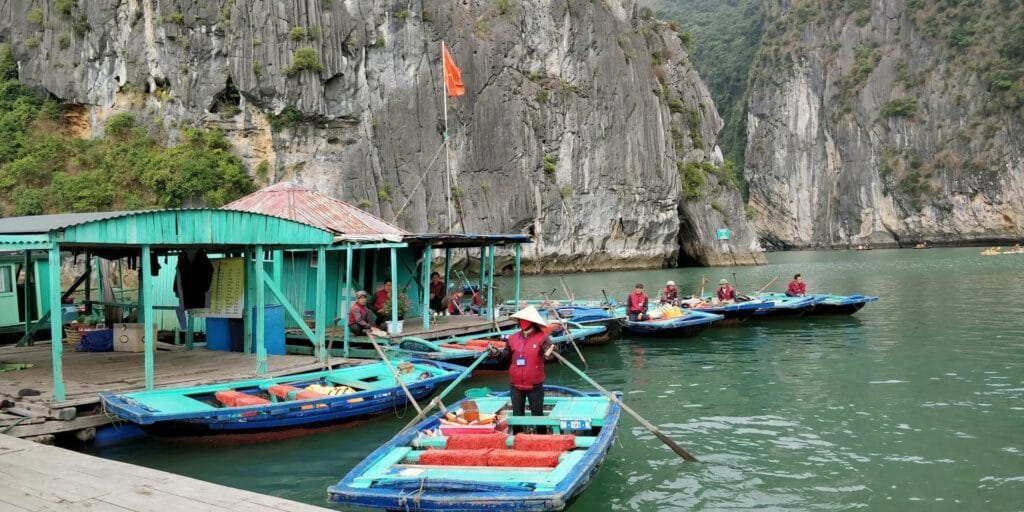 Ha Long Bay Bamboo Raft