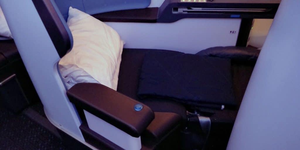 KLM Business Class Boeing 787 Bett