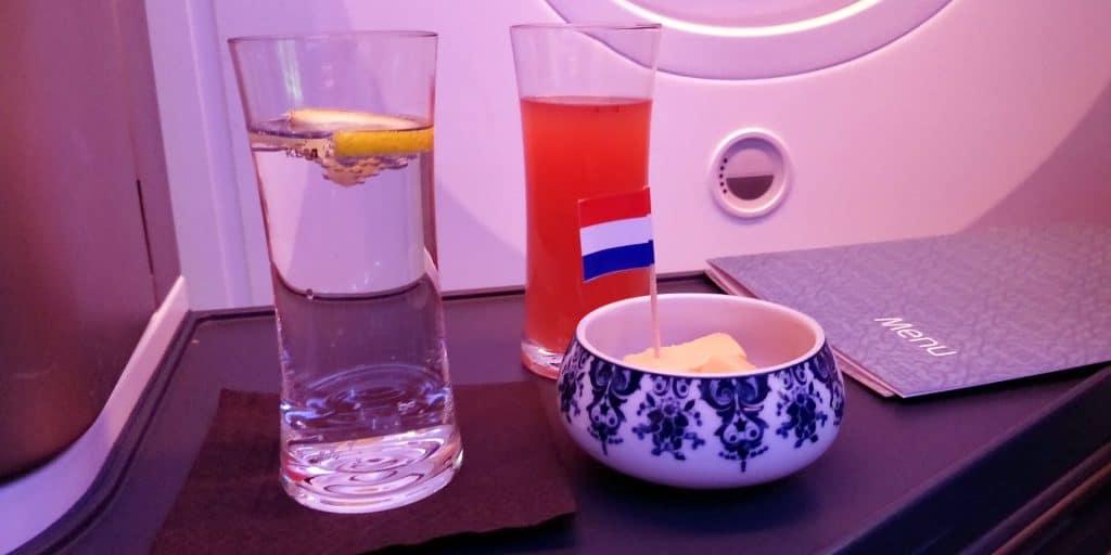 KLM Business Class Boeing 787 Käse