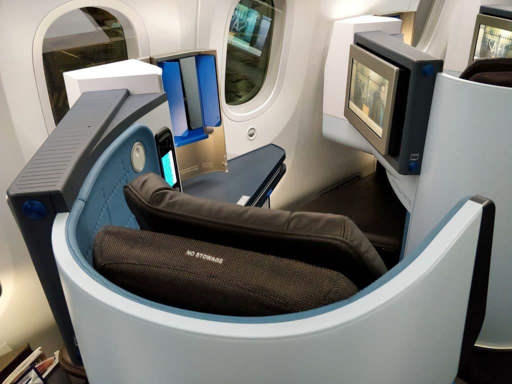 KLM Business Class Boeing 787 Sitz 6