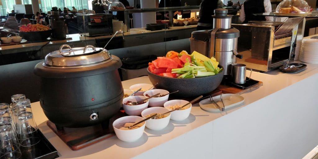 Qantas Business Lounge Canberra Buffet