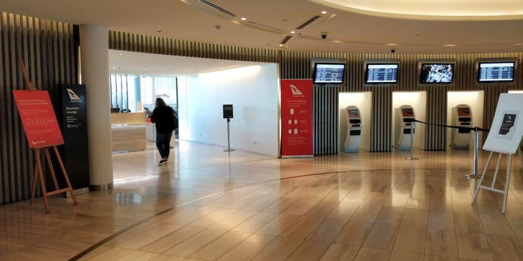 Qantas Business Lounge Canberra Eingang