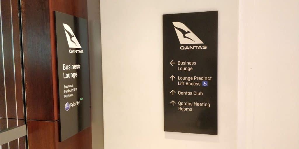 Qantas Business Lounge Sydney Eingang