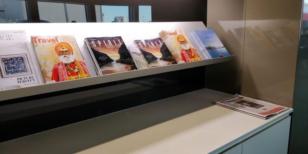 Qantas Business Lounge Sydney Magazine 2