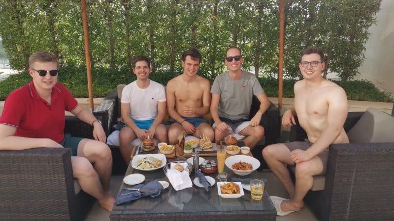 Reisetopia Team Lunch Raffles Dubai
