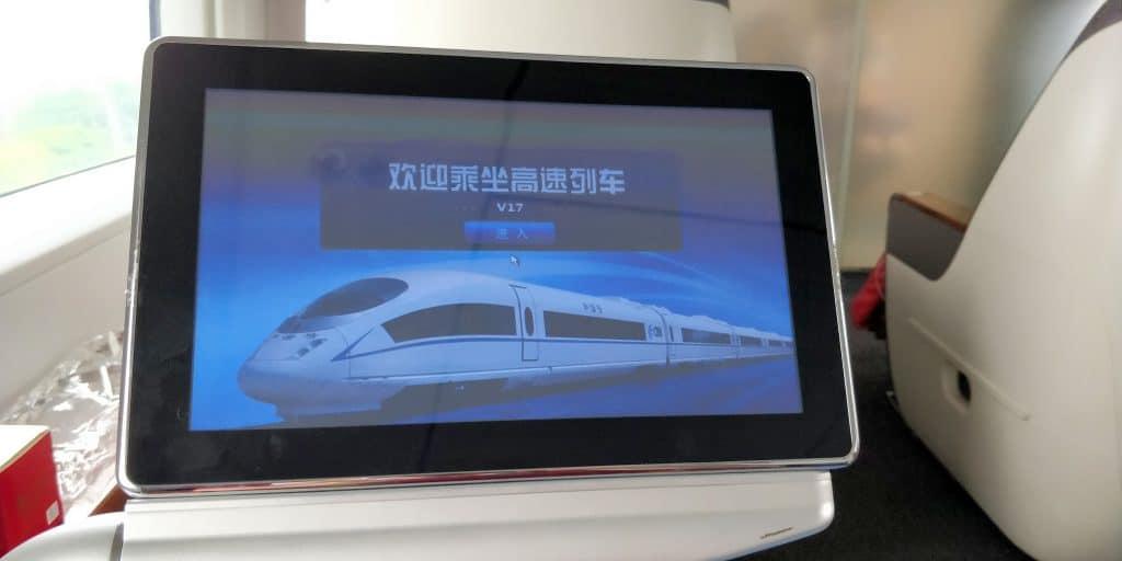 China Schnellzug Business Class Entertainment