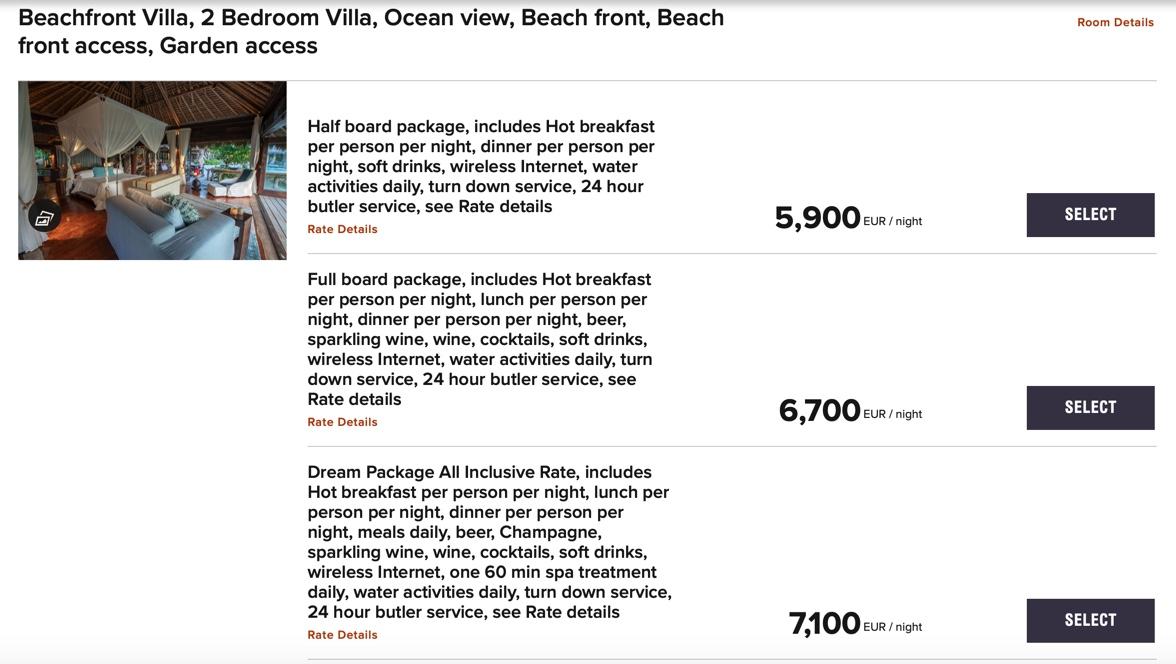 North Island Resort Marriott Raten