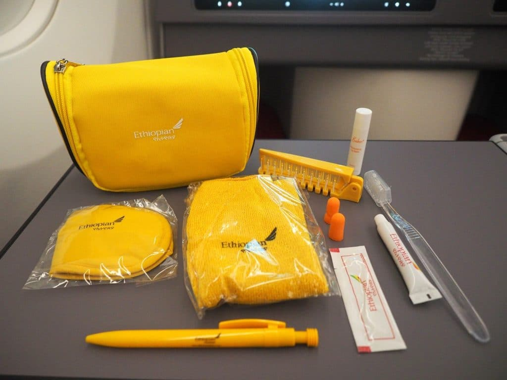 Ethiopian Airlines Business Class Airbus A350 Amenity Kit 2