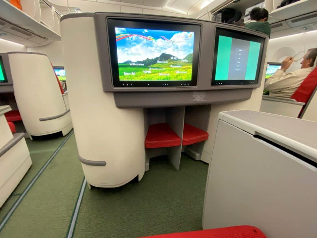 Ethiopian Airlines Business Class Airbus A350 Fußraum